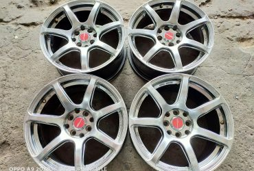 JUAL VELG WORK EMOTION RING 16 PCD 4X100/114,3 WARNA HYPER BLACK MURAH