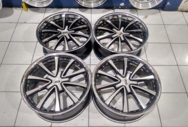 Velg Ar Evolution R20 Pcd 5X114,3 Lebar Rata 8,5 Offset 45 Black Machine Face