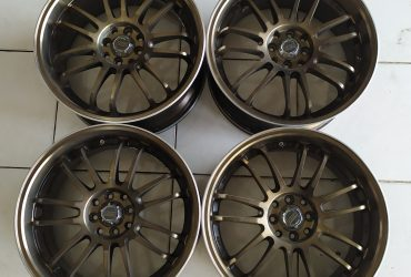 Velg Racing Bekas Model RE30 R18X8 8X100/114 ET45 BRONZE