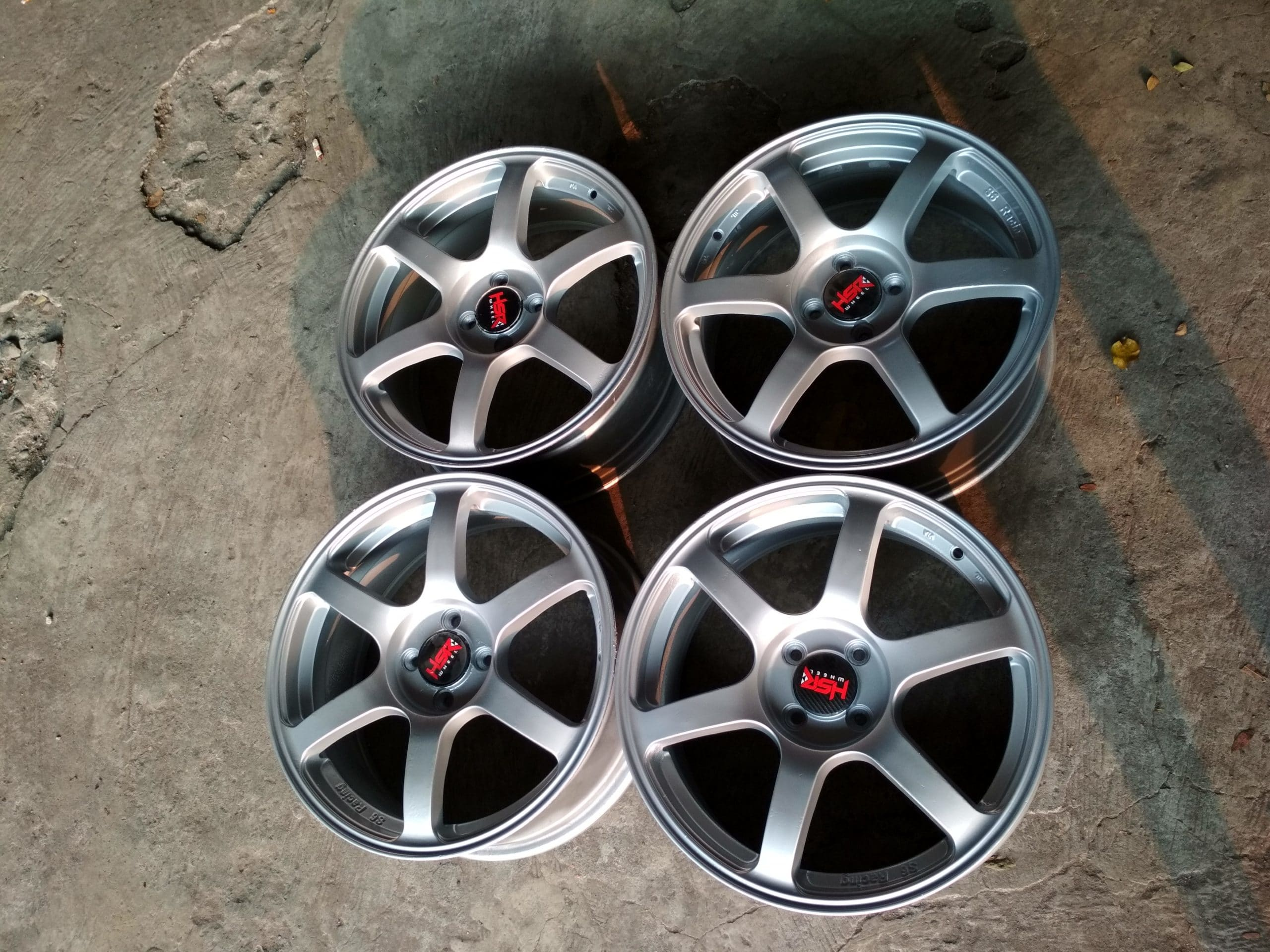 velg second TE37 ring 17×7 pcd 4×100