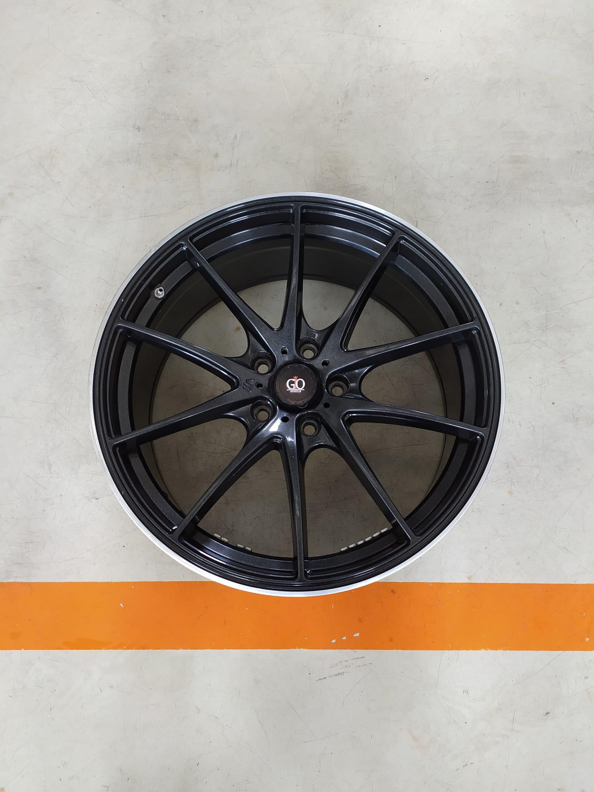 Velg Bekas Rep Volk Rays G25 Ring 19 Lebar Belang , PCD:5×114,3