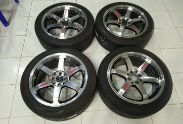 Velg racing second murah ring 17+ban
