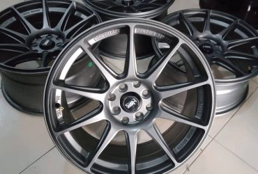 Velg Racing Shinjuku Ring17 Pcd8x100+114,3 Grey