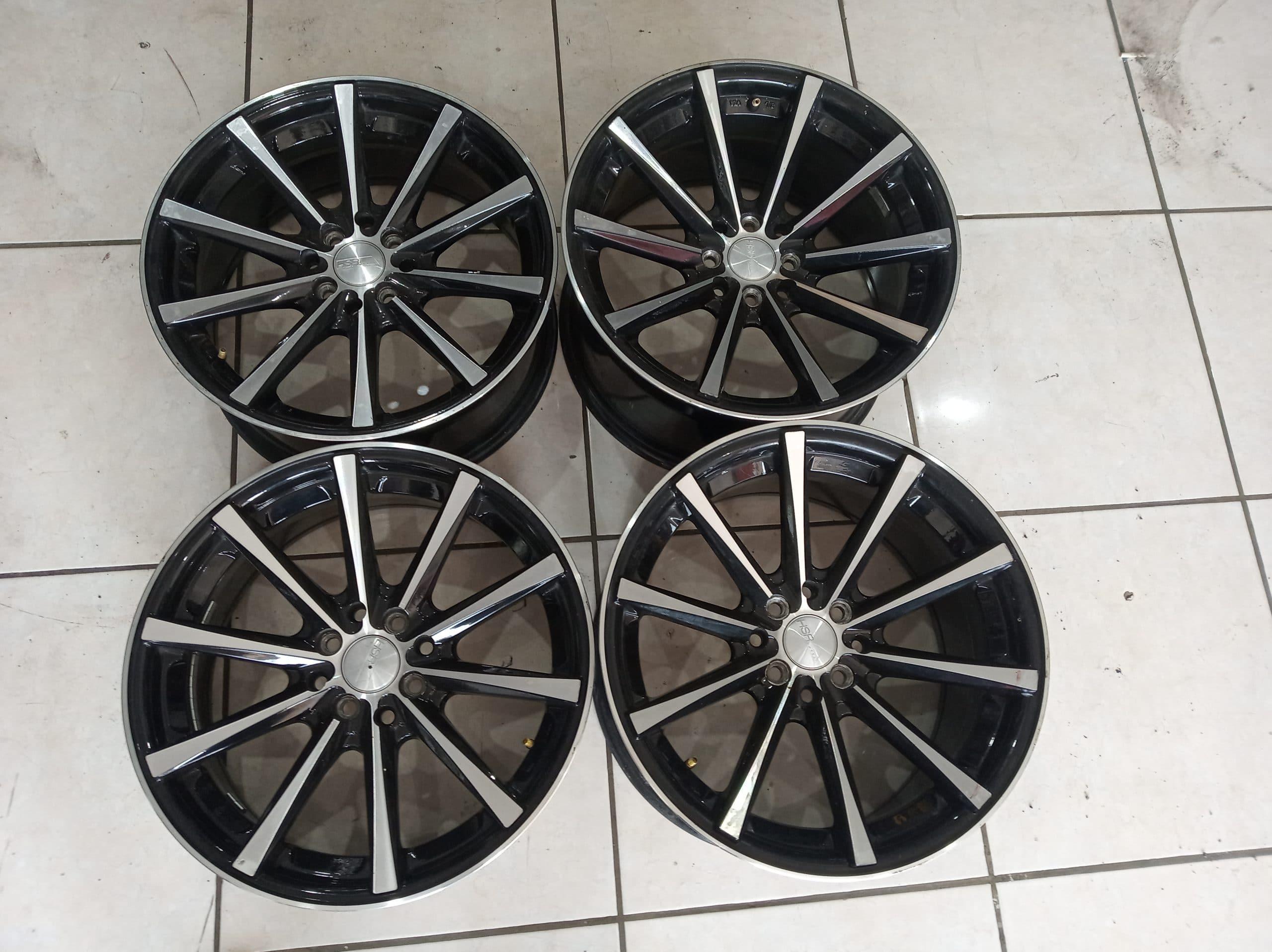 Velg Racing hustler R17x7,5/9 et.42/37 warna black polis