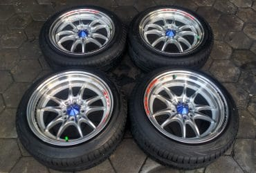 velg mugen ring 16×7/8,5 pcd 4×100, 4×114 plus ban 195/50r16