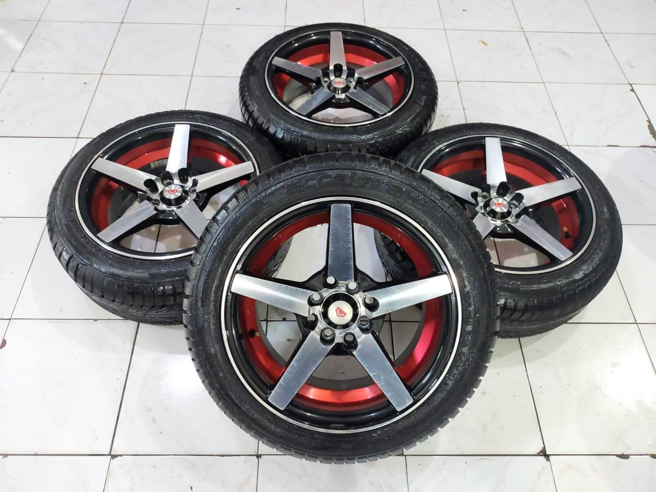 Velg Mobil Second VOSSEN R15X7 H8X100-114.3 ET 35 BAN 185 55 R15