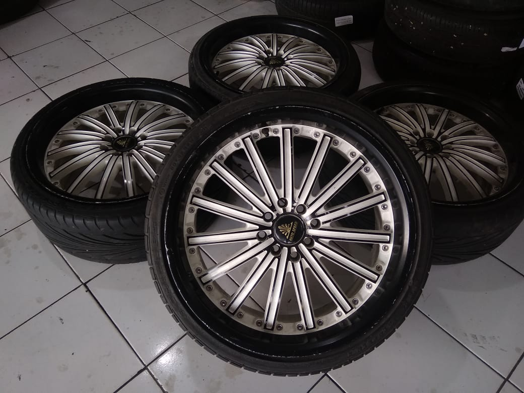 jual velg second autospeed ring 18 pcd 8×100/114 + ban 215/35 (2pcs)