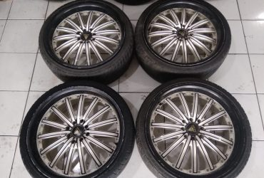 jual velg second autospeed ring 18 pcd 8×100/114 + ban 215/35 (2pcs)