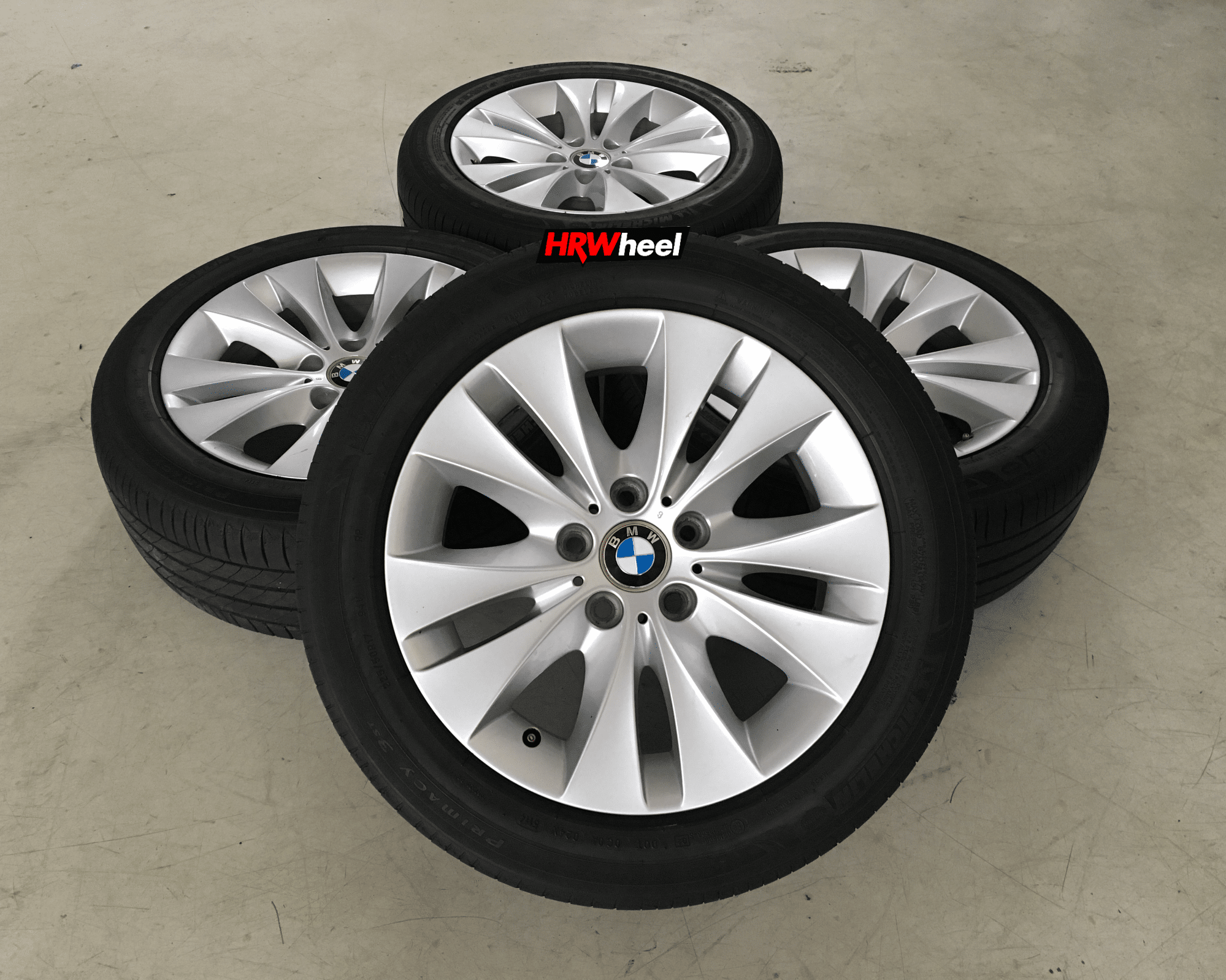 VELG BEKAS OEM BMW E60 523i RING 17 + BAN MICHELIN 225/50/R17