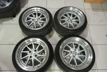 Velg Racing TIAKUR Second R16x8/9 H.4×100 et.35/38warna: silver