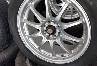 Velg second murah type ce28 ring17x7 h8x100-114,3 et40 silver ban pemanisss