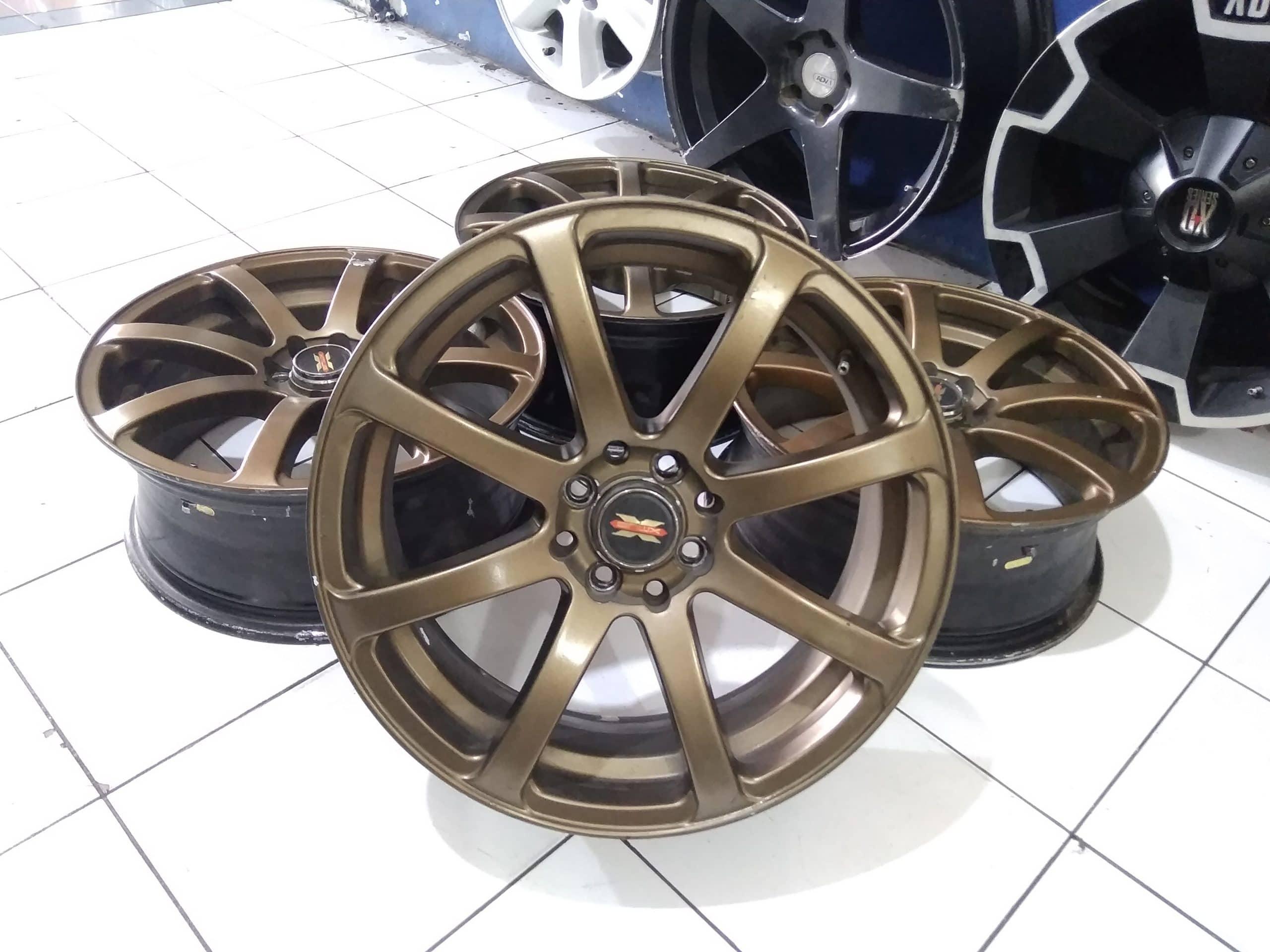 tersedia velg seken work ring 17×7 pcd 4×100 4×114 warna bronze velg seken murah