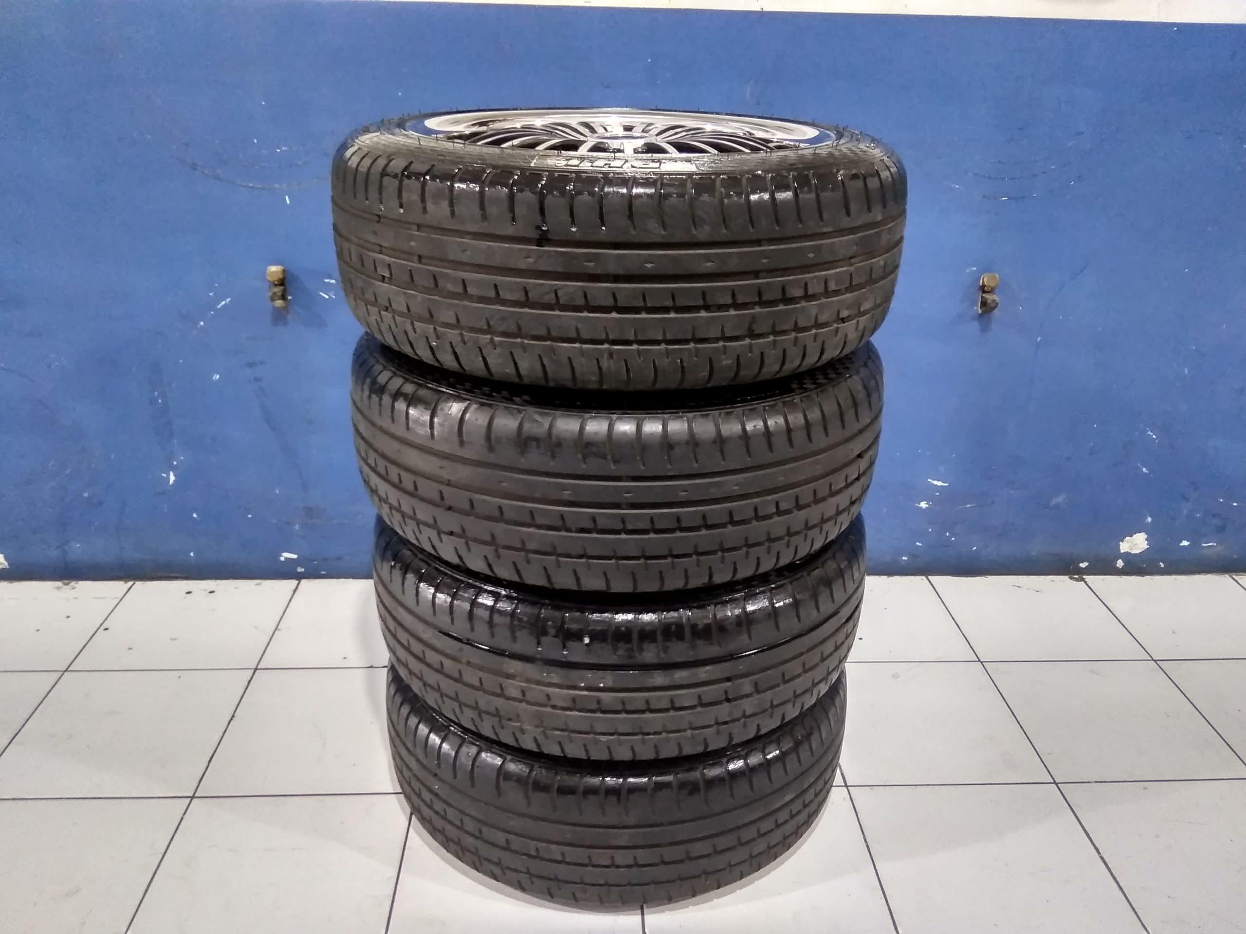 Tersedia Velg Seken model racinghard ring 17×7 pcd 4×100 4×114 plus ban 205 50 acclera 90%