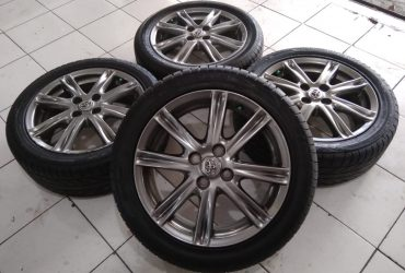 velg second ori toyota yaris ring 16 + ban 195/50
