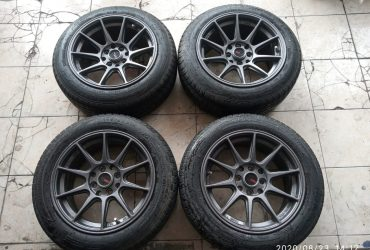 velg hsr shinjuku ring 15 pcd 4×100, 4×114 plus ban