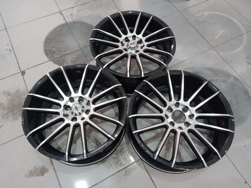 Velg racing murah type fla-41 ring17x7,5 pcd8x100-114,3 et42 black polish
