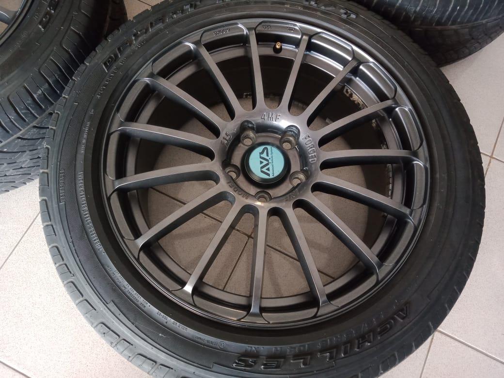 Velg racing murah type forget ring18x8 pcd5x114,3 et45 grey velg onli yah ban pemanis