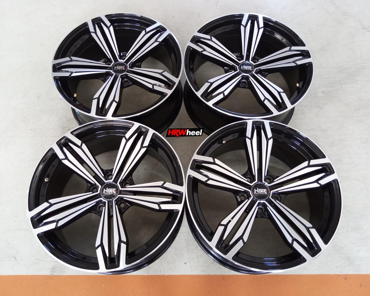Velg Bekas HSR Type Merkin Ring 18×8 ET:40 Pcd:5×114,3 Black Polish