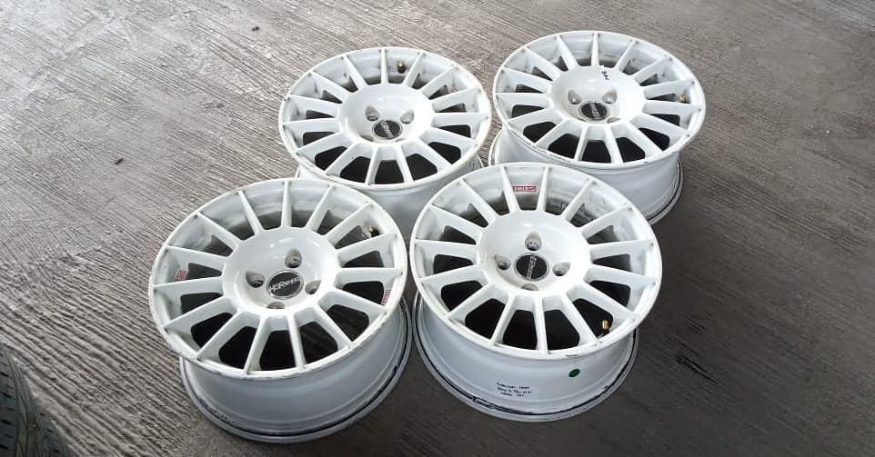 Velg mobil racing second Takasaki hsr ring. 15  lebar 7rata  pcd 4×100