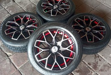 Velg Racing JF Luxury R15 Pcd 4×100-114 Plus Ban Bridgestone 185/55 R15 (Second)