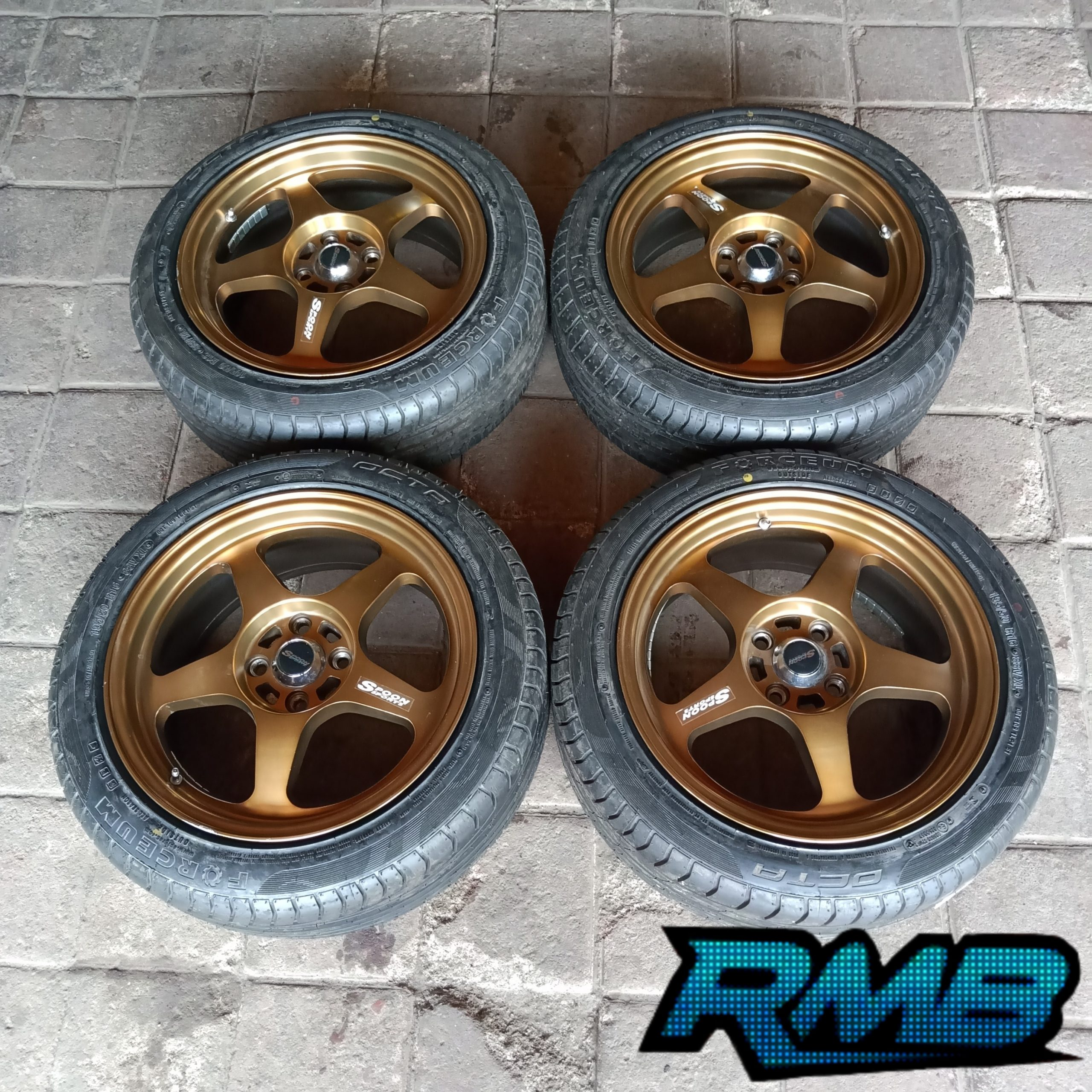 Velg Racing Spoon R16 Lubang 4×100 Plus Ban Forceum Octa (Second)