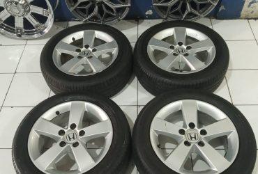 Velg Mobil STD Civic R16 Lebar 6  Pcd 5×114,3 Ban Michelin 205 55 R16
