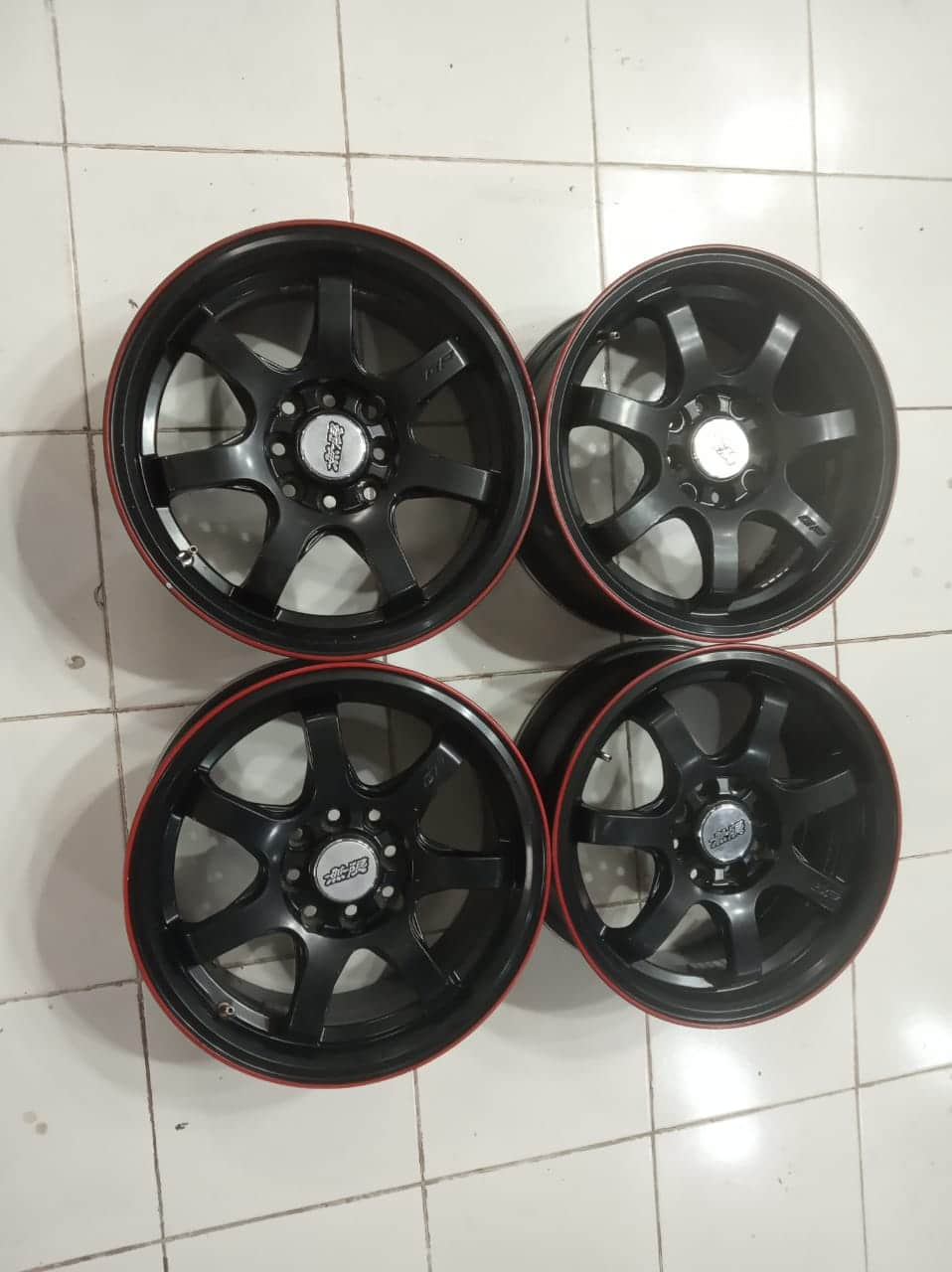 read velg seken model TE37 Ring 15X6,5 pcd 8X100-114,3 et40 hitam