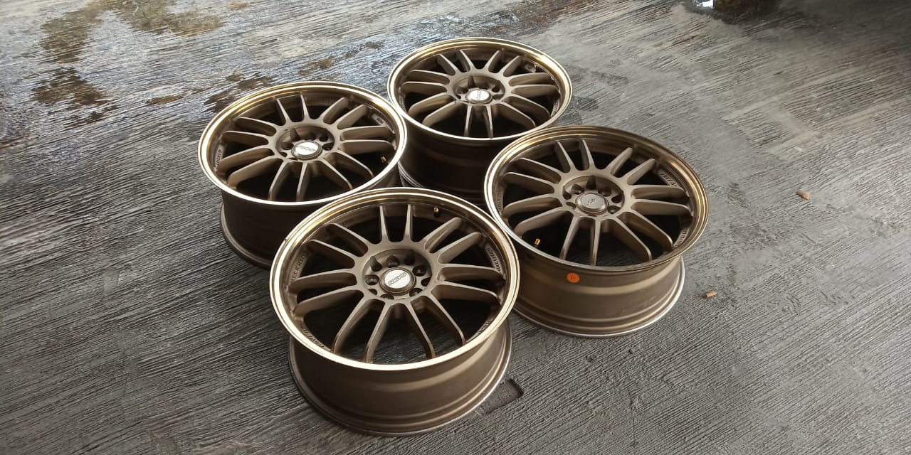 velg mobil racing second rays forged ring 17 lebar.7,5  Pcd.5×100/114,3