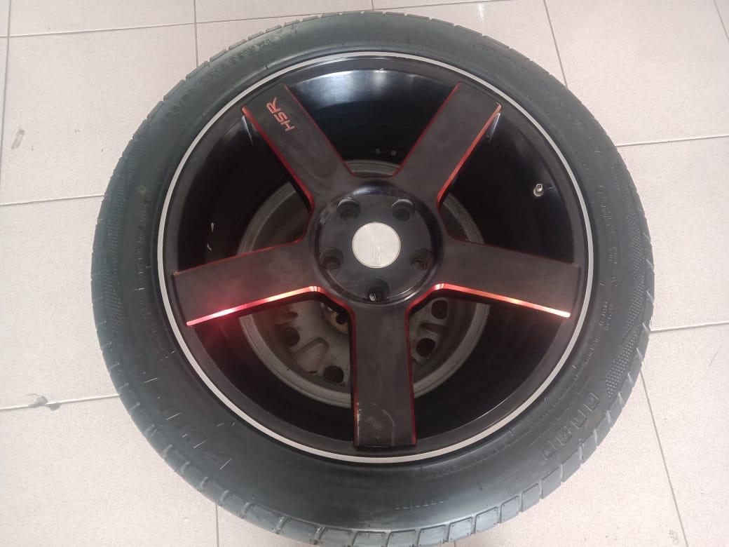 PELEK RACING HSR TYPE KM690 + BAN PHI UKURAN 225/50-18