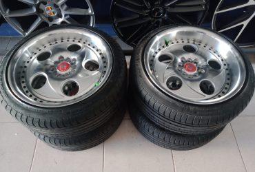 Velg racing VMW r17+ban phi 215/45-17 kondisi 95%