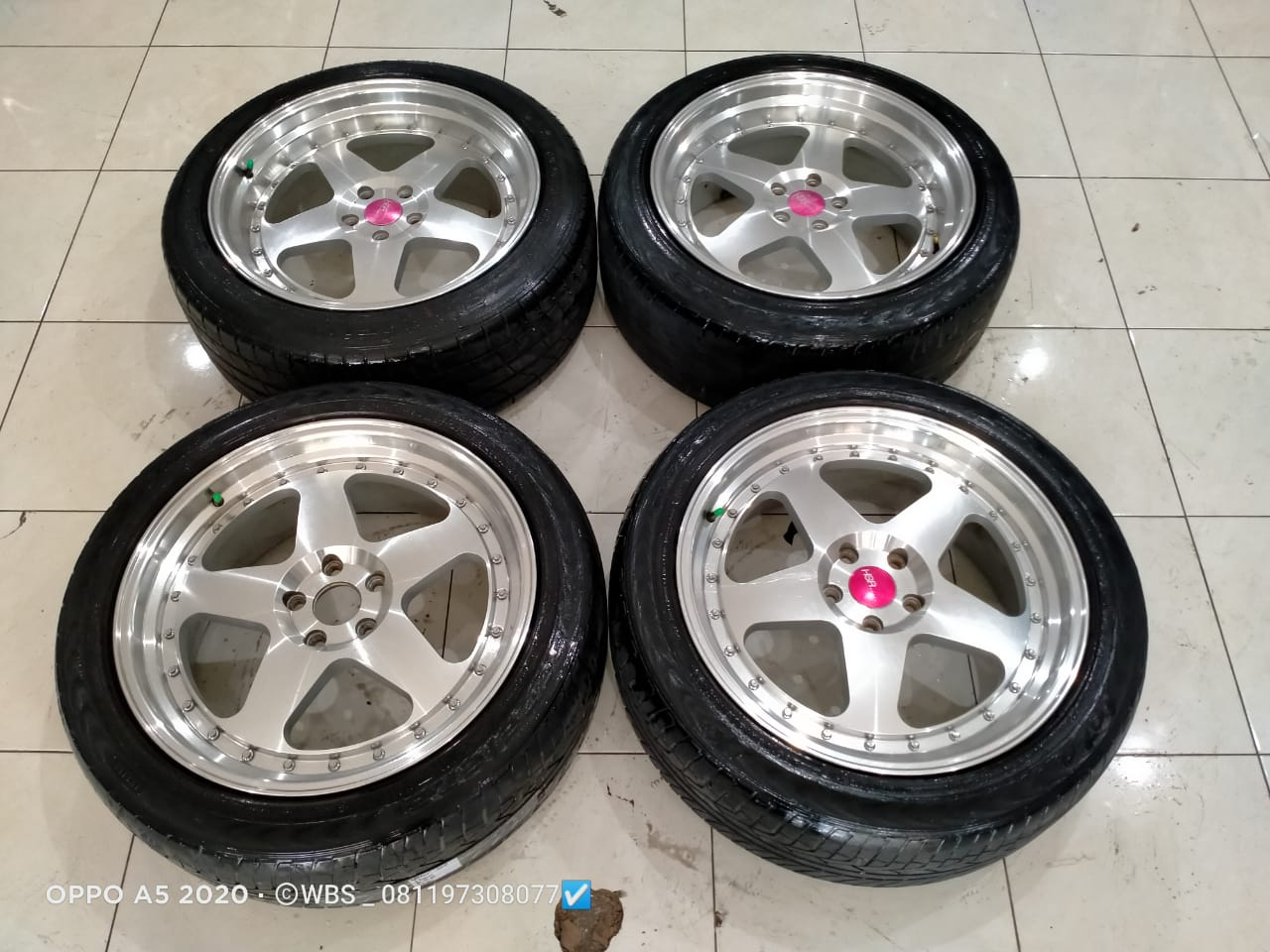 di jual velg hsr type joy ring 20×8,5/9,5 pcd 5×114 offset 45 velg only