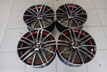 Velg Second Hsr Candy R17x75 Pcd 8×100/114 Et40 Black Red