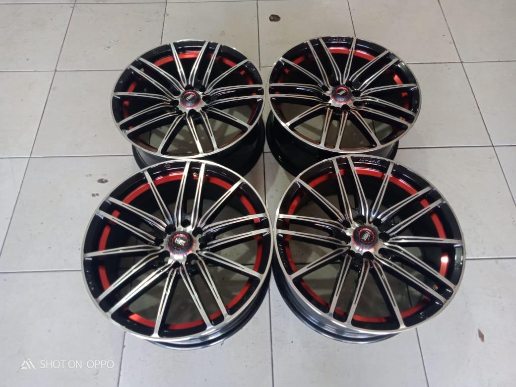 Velg Second Hsr Candy R17x75 Pcd 8×100/114 Et40 Black Red