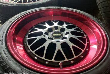 Jual/TT Velg Second BBS R17 H4x100/114 + Ban LionSport 205/50 R17 95%