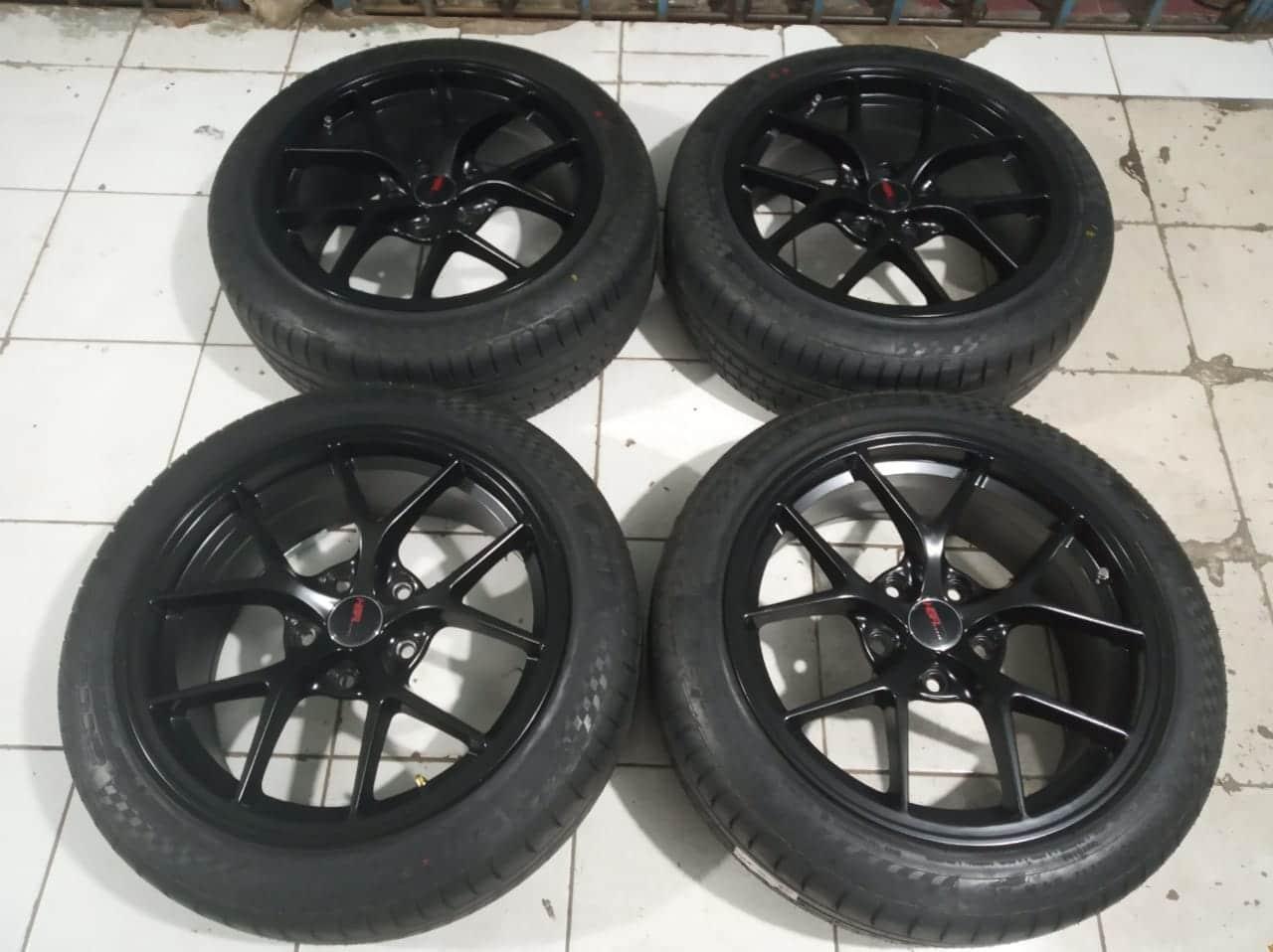 Velg racing mobil ring 17 untuk bmw seri 3 pcd 5×120
