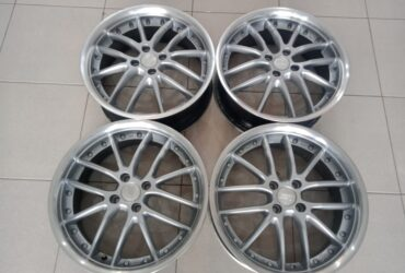 velg second zen murah ring17x7 pcd4x100 et40 silver polish