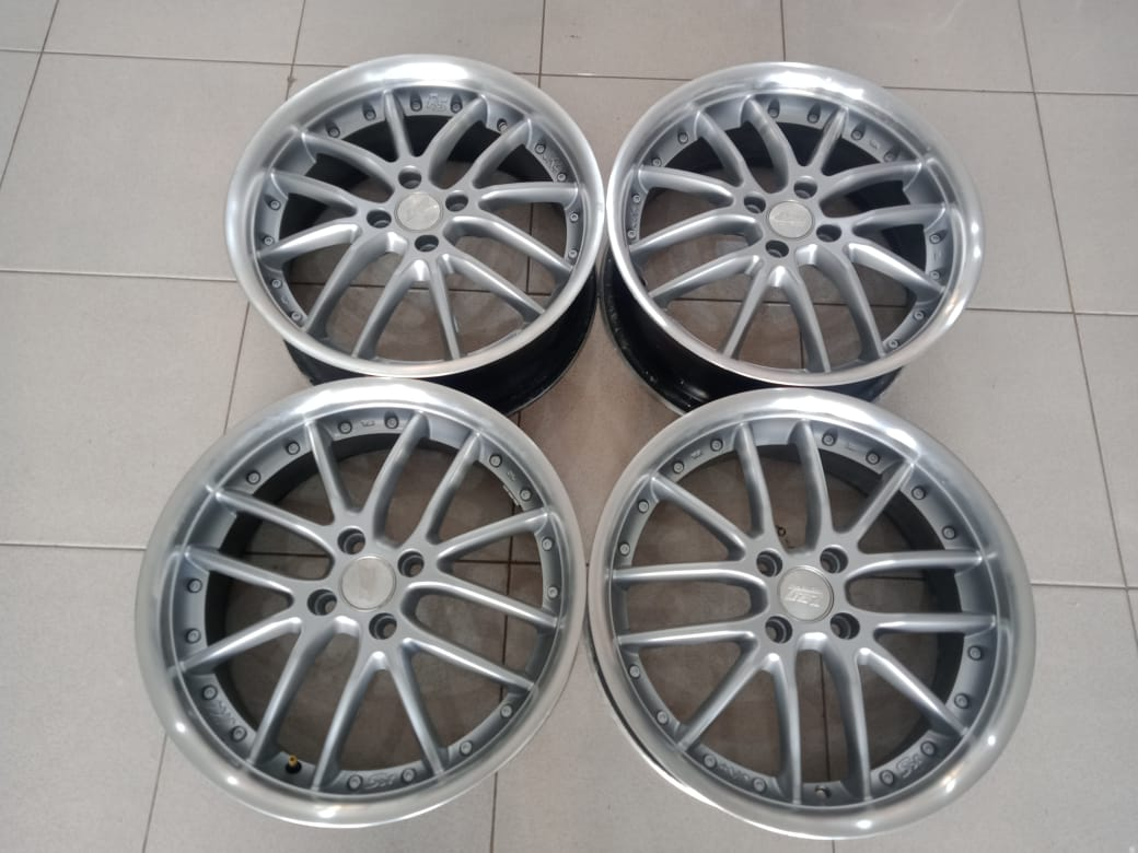 velg second zen murah ring17x7 pcd4x100 et40 silver polish