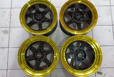 Velg Second HSR Rumoi R17x7.5/8.5 H8x100-114.3 Et42/38
