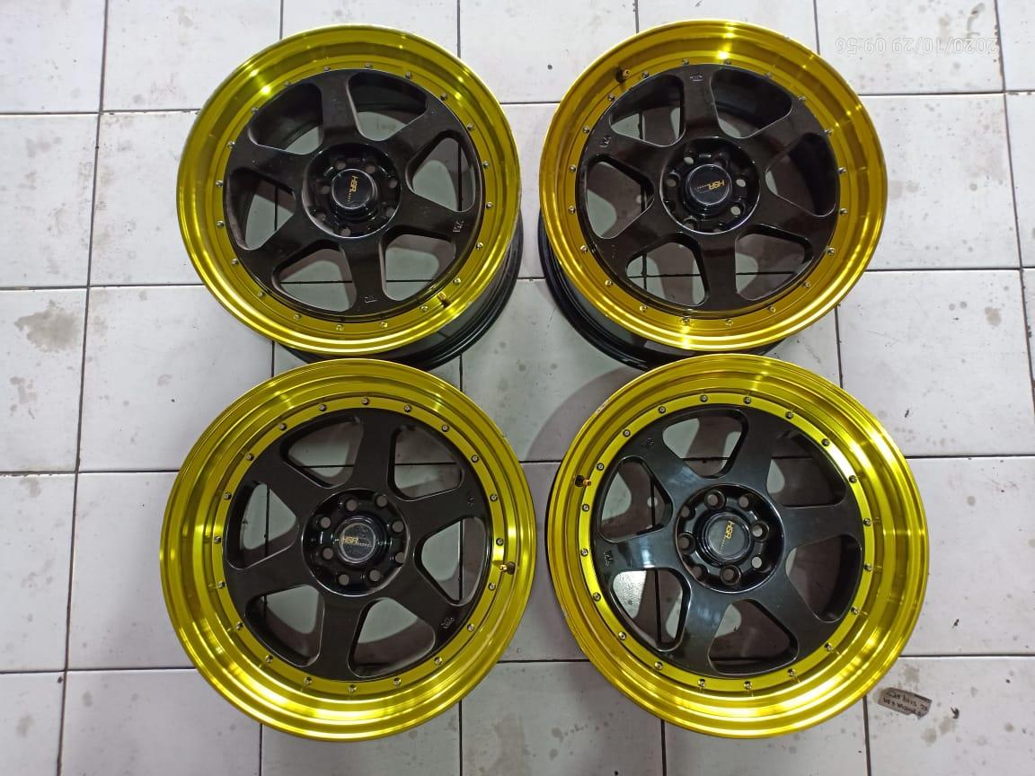 Velg Second HSR Rumoi R17x7.5/8.5 H8x100-114.3 Et42/38