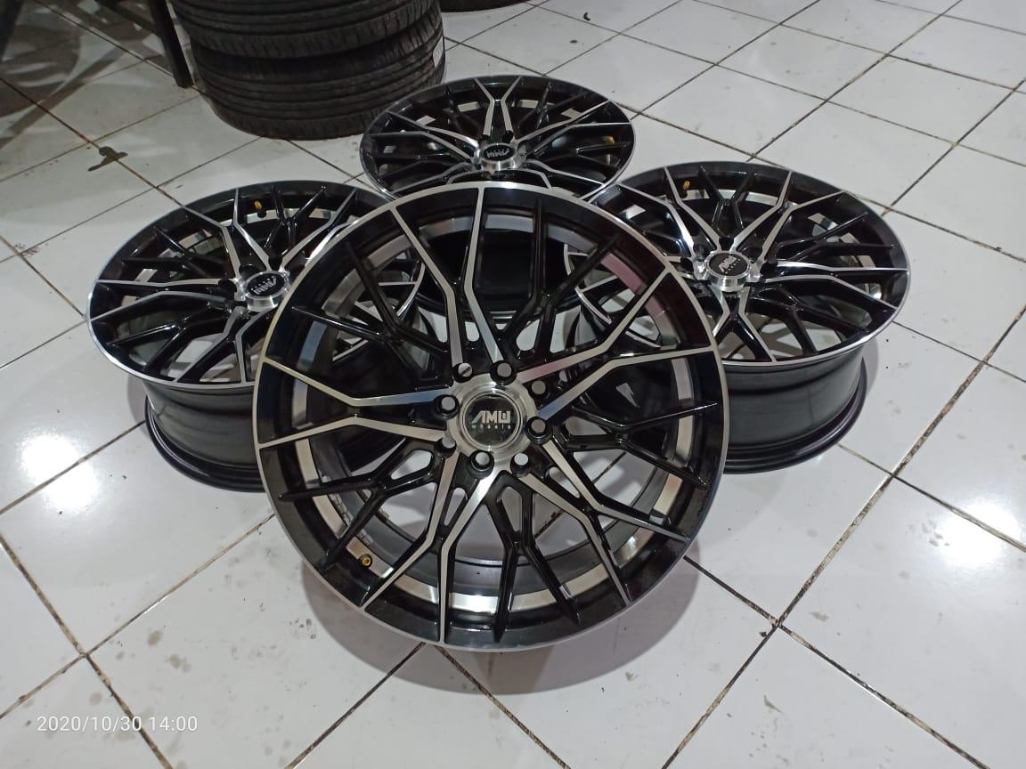 Velg Amw R17x7.5 H8x100-114.3 Et40 Black Polish