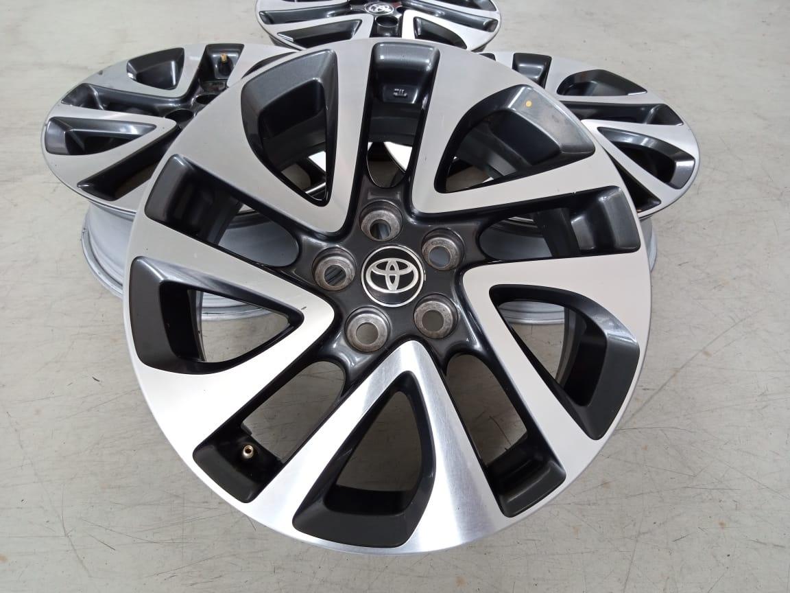 Velg Bekas Oem Toyota Sienta Q Ring 16×6 H:5×100 ET:45 Grey Polish