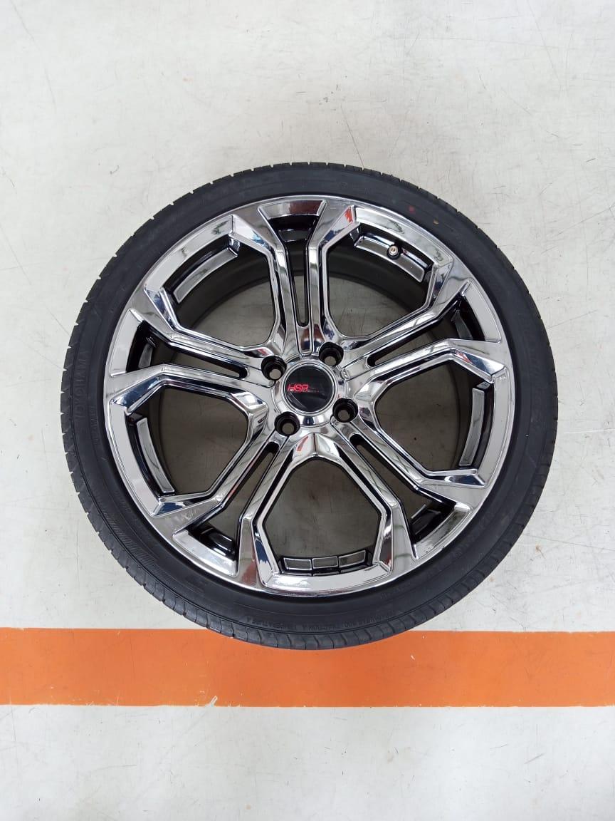 Velg Bekas HSR Type Troche Black Chrome Ring 17 + Ban