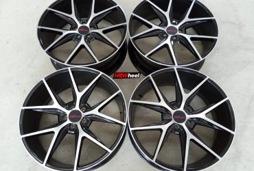 Velg Bekas HSR Type Misano Ring 22×9 ET:45 H:5×114,3 Black Polish