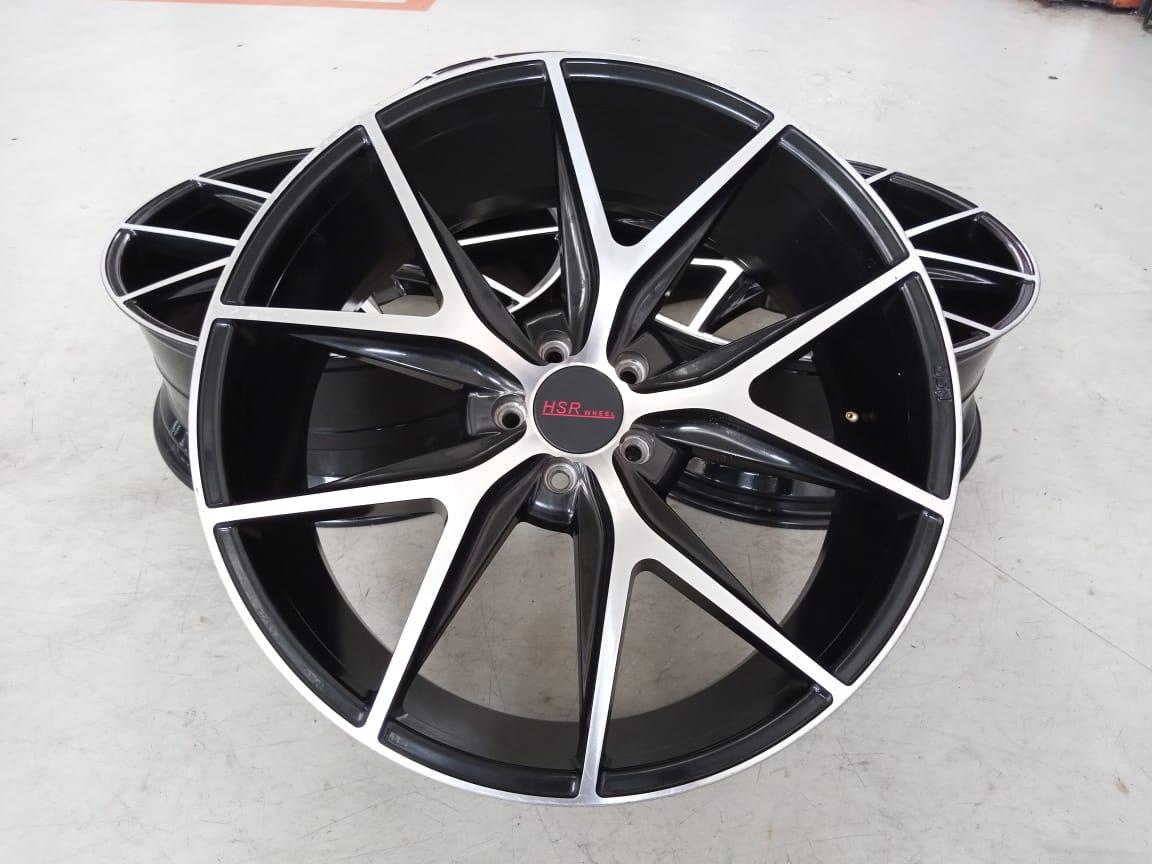Velg Bekas HSR Type Misano Ring 22×9 ET:45 H:5×114,3 Black Polish