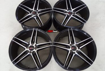Velg Bekas HSR Type NE5 Ring 18×8 ET:45 Pcd:5×114,3 Black Polish