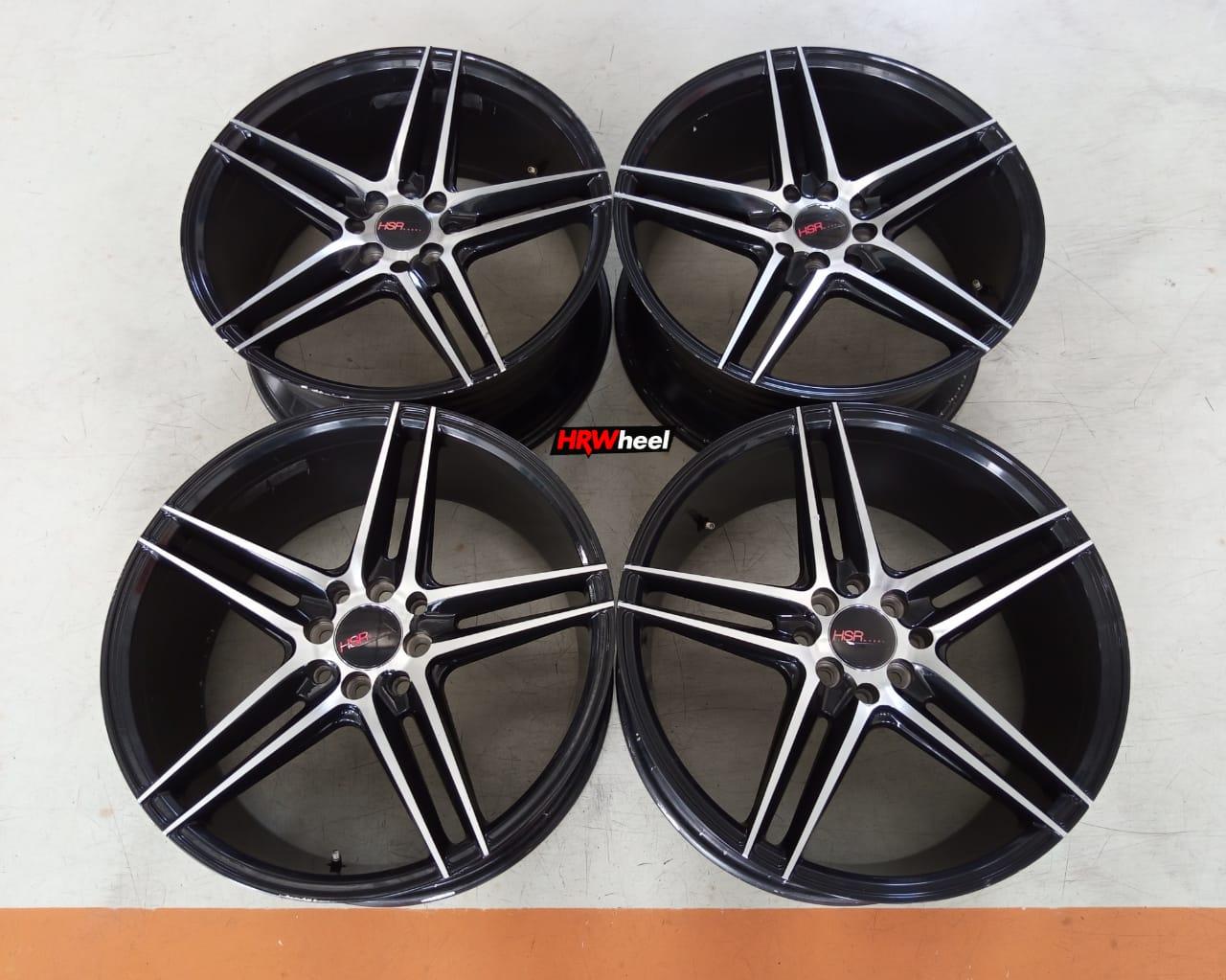 Velg Bekas HSR Type NE5 Ring 18×8 ET:45 Pcd:5×114,3 Black Polish
