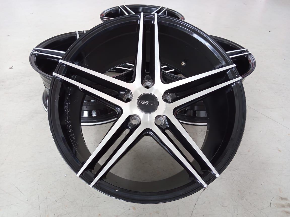 Velg Bekas HSR Type NE5 Ring 18×8+9 ET:40 Pcd:5×114,3 Black Polish