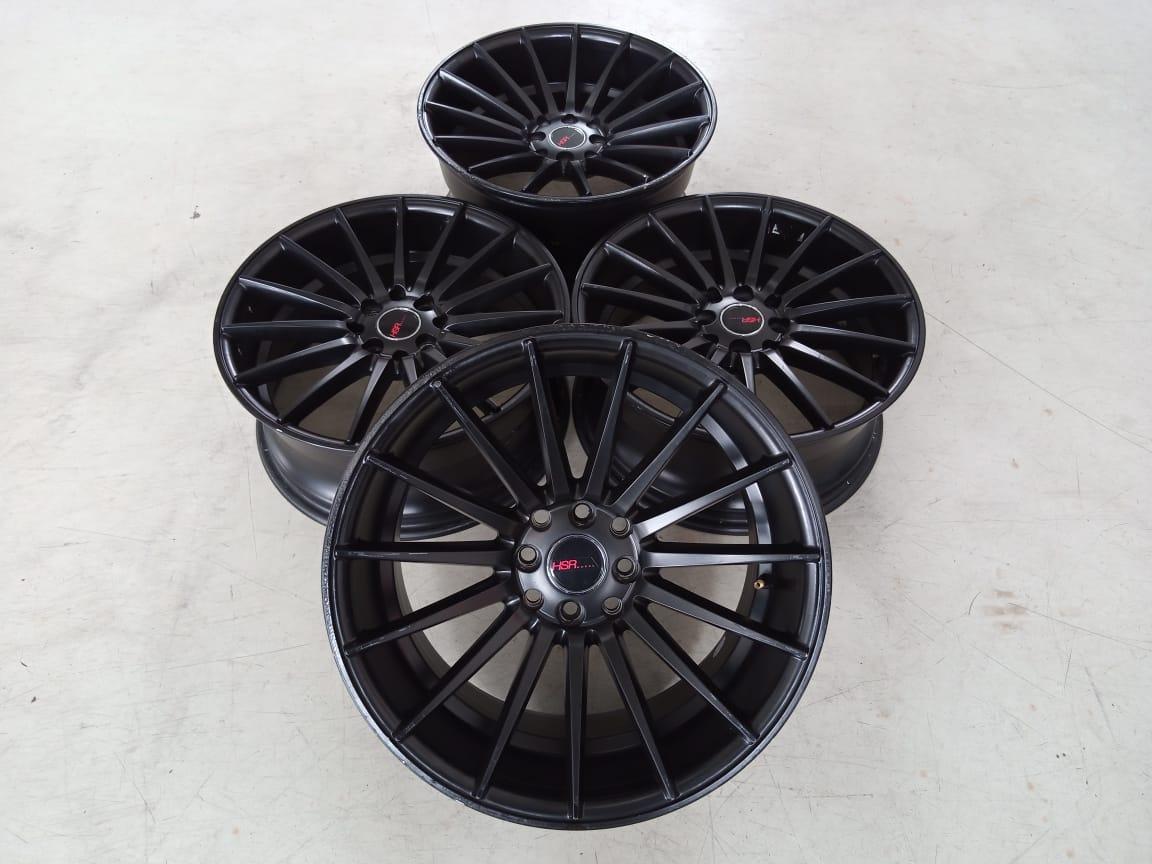 Velg Bekas HSR Type Tsukuba Ring 17×7,5+9 ET:42+30 H:8×100+114,3 Black