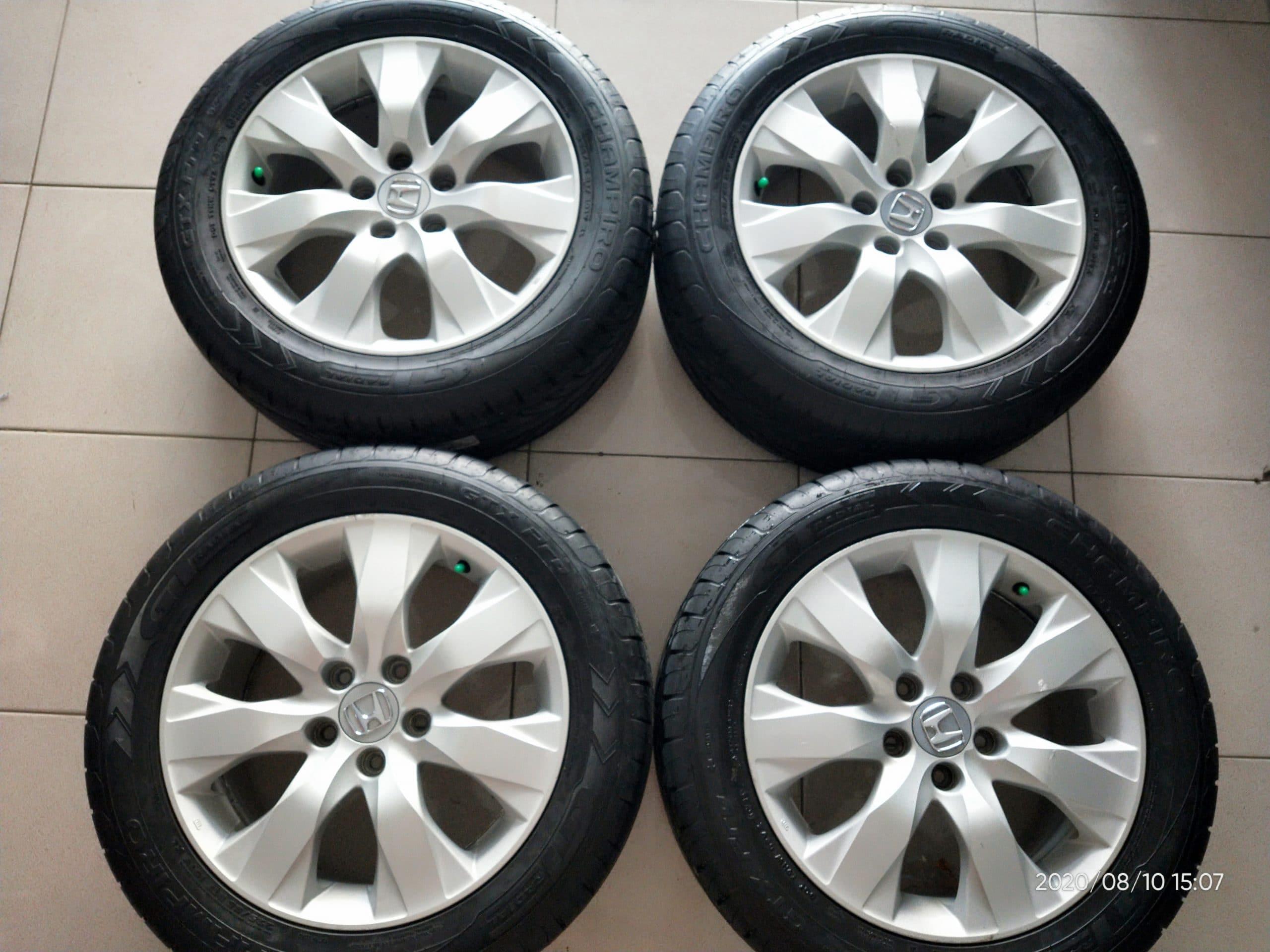 VELG OEM MOBIL HONDA ACCORD R17+BAN GT UKURAN 225/55-17