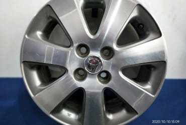 VELG OEM TOYOTA VIOS RING15X5,5 HOLE4X100 ET45 GREY POLISH